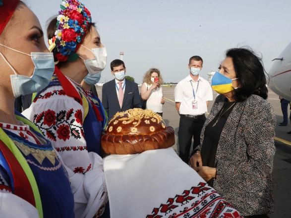 Президент Грузии Саломе Зурабишвили прибыла в Украину