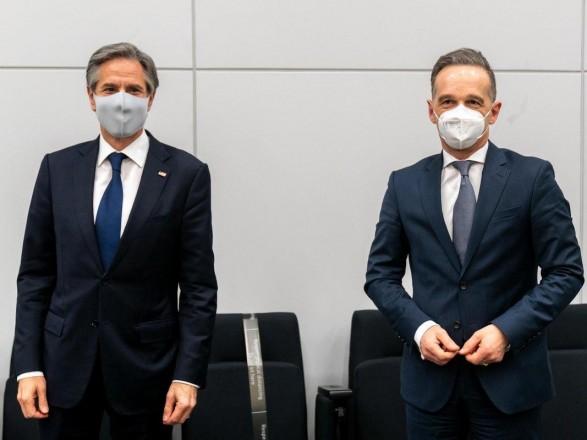 """Маас и Блинкен обсудили """"украинский"""" вопрос: в США надеются, что Германия не позволит РФ использовать """"Северный поток-2"""" против Украины"""
