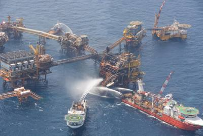 В Мексиканском заливе - пожар на подводном трубопроводе