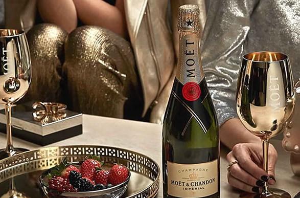 Компания Moët Hennessy будет по-другому оформлять бутылки шампанского для поставки в Россию