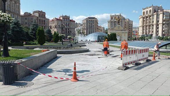 В Киеве на Майдане Независимости временно не будет работать часть фонтанов