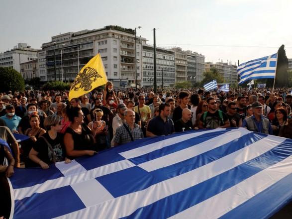 В Греции жители второй раз протестуют против обязательной вакцинации