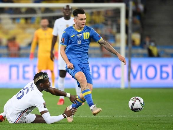 Украина сыграла вничью с Францией в отборе на ЧМ-2022
