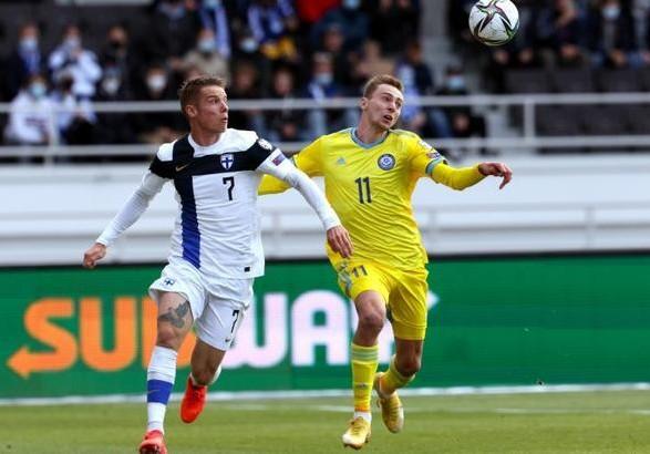 Финляндия обыграла Казахстан в матче соперников сборной Украины в отборе на ЧМ-2022