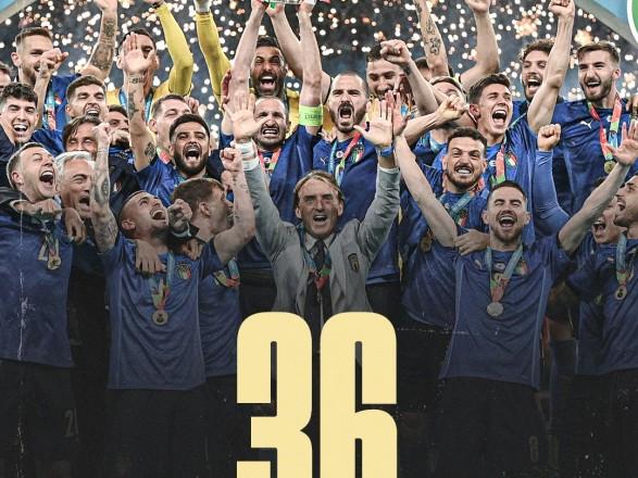 Футбол: сборная Италии установила мировой рекорд по количеству матчей без поражений