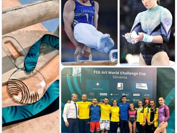 Спортивная гимнастика: украинцы завоевали медали на Кубке мирового вызова