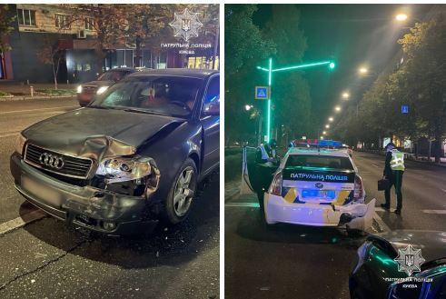 В столице пьяный водитель устроил ДТП и травмировал двух патрульных