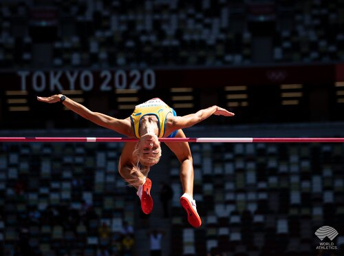 Легкая атлетика: украинская прыгунья в высоту Левченко в тройке на соревнованиях в Берлине