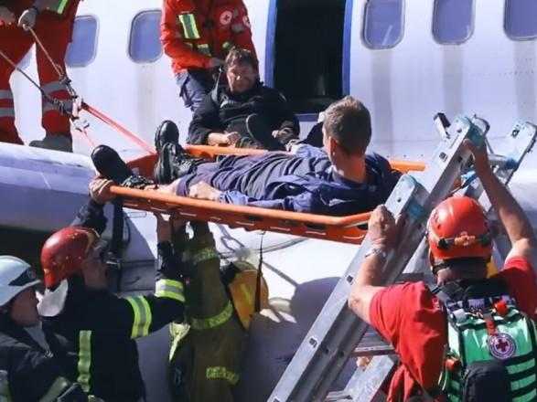 """В """"Борисполе"""" провели масштабные аварийно-спасательные учения"""