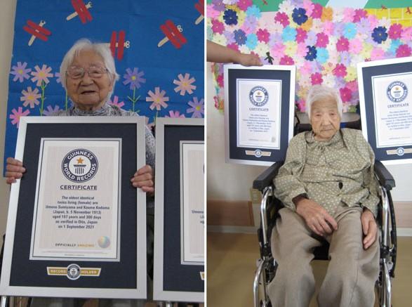 Пережили две войны: сестры из Японии стали старейшими близнецами в мире